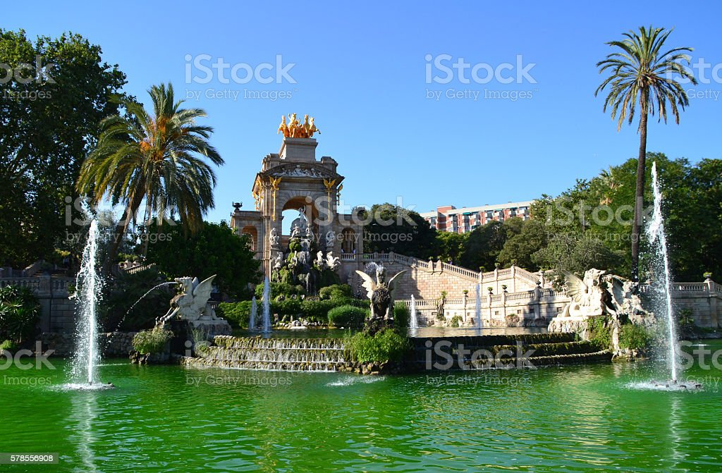 Fountain in Parc de la Ciutadella, Barcelona - Spain stock photo
