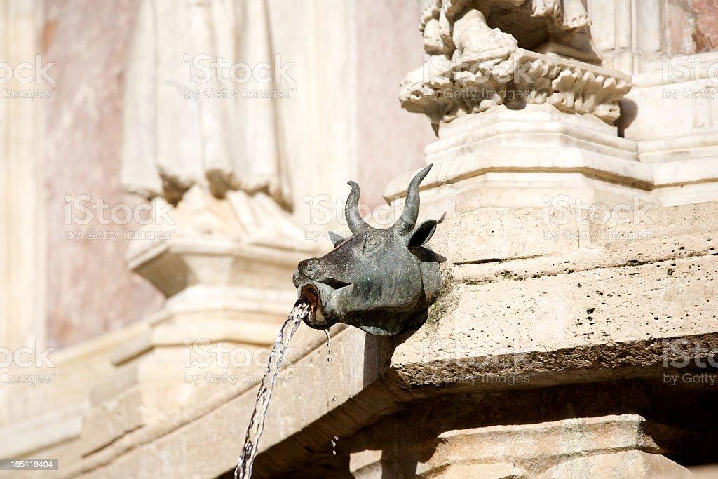 Fountain In Perugia royalty-free stock photo