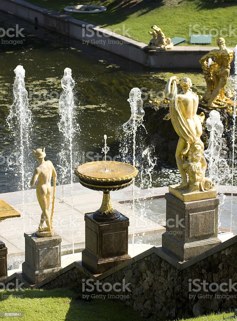 Fountain in Petrodvorets (Peterhof), St Petersburg, Russia. royalty-free stock photo