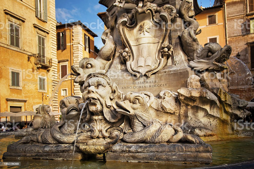 Fountain in Rome royalty-free stock photo