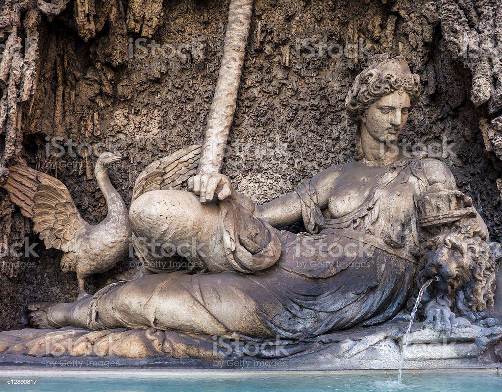 Fonte em Roma foto royalty-free