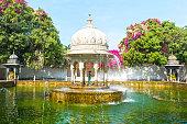 Fountain In Saheliyon Ki Bari Gardens Udaipur Rajasthan India