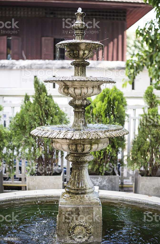 fountain in the garden royalty-free stock photo
