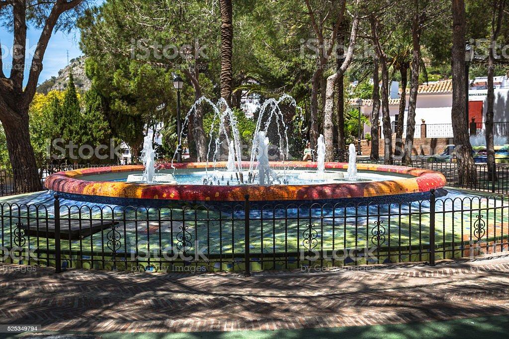 fountain in the park Mija,Spain stock photo