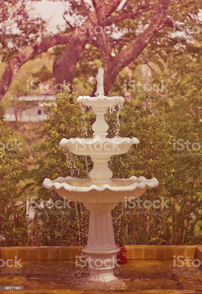 fountain in the park royalty-free stock photo