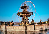 Fountain in the Place de la Concorde in Paris, France