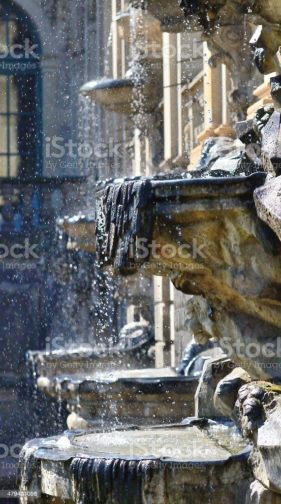 Fountain in The Zwinger/Dresden stock photo