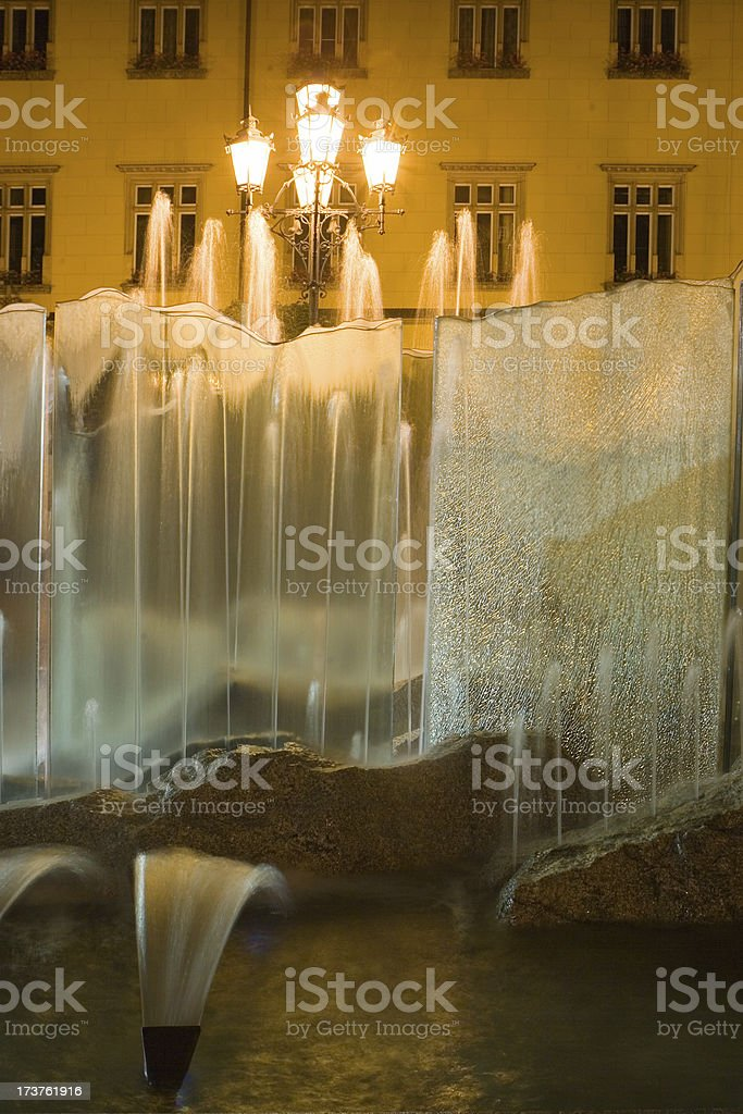 Fountain in Town Square royalty-free stock photo