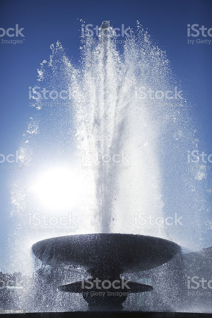 Fountain in Trafalgar Square (XXXL) stock photo