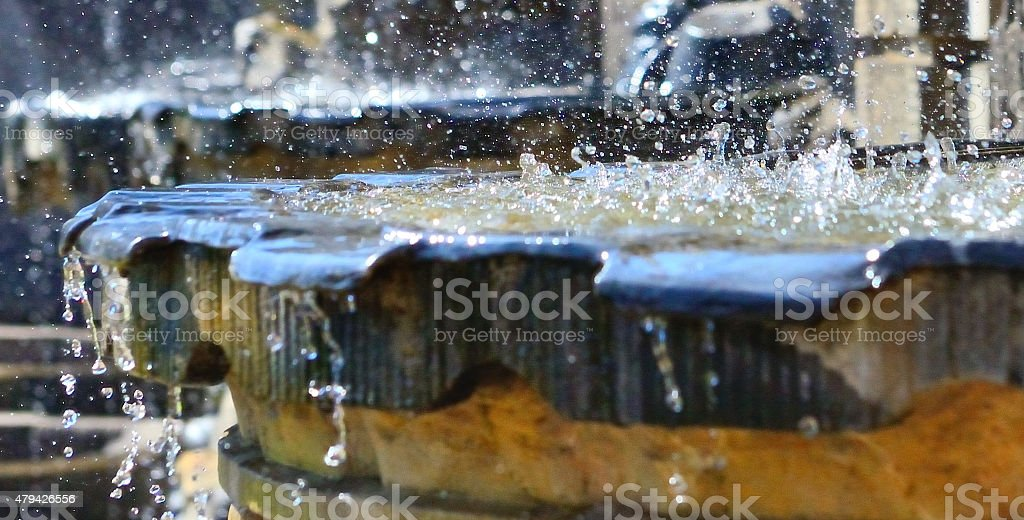 Fountain in Zwinger of Dresden stock photo