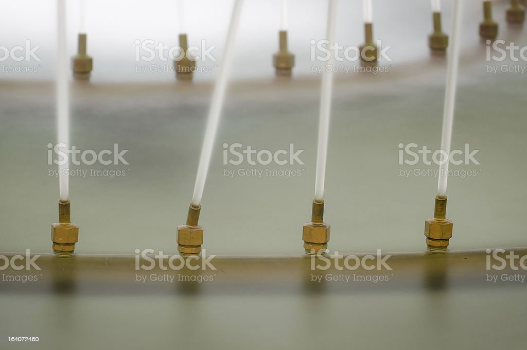 Fountain Nozzles royalty-free stock photo