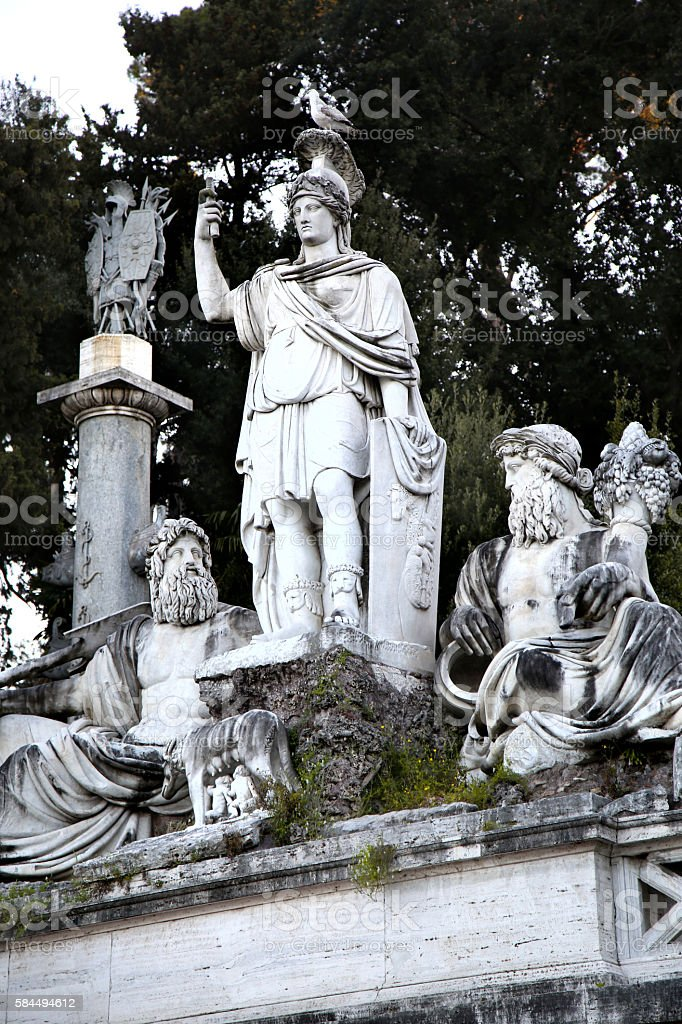 Fountain of Dea di Roma in Roma, Italy stock photo
