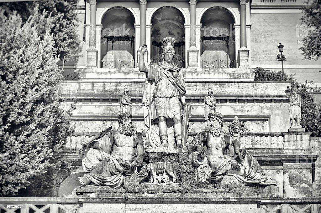 Fountain of Dea di Roma in Rome, Italy stock photo