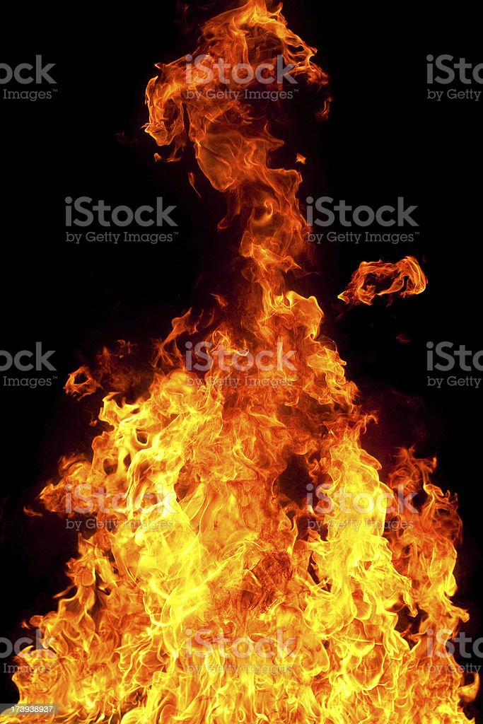 Fountain of fire royalty-free stock photo