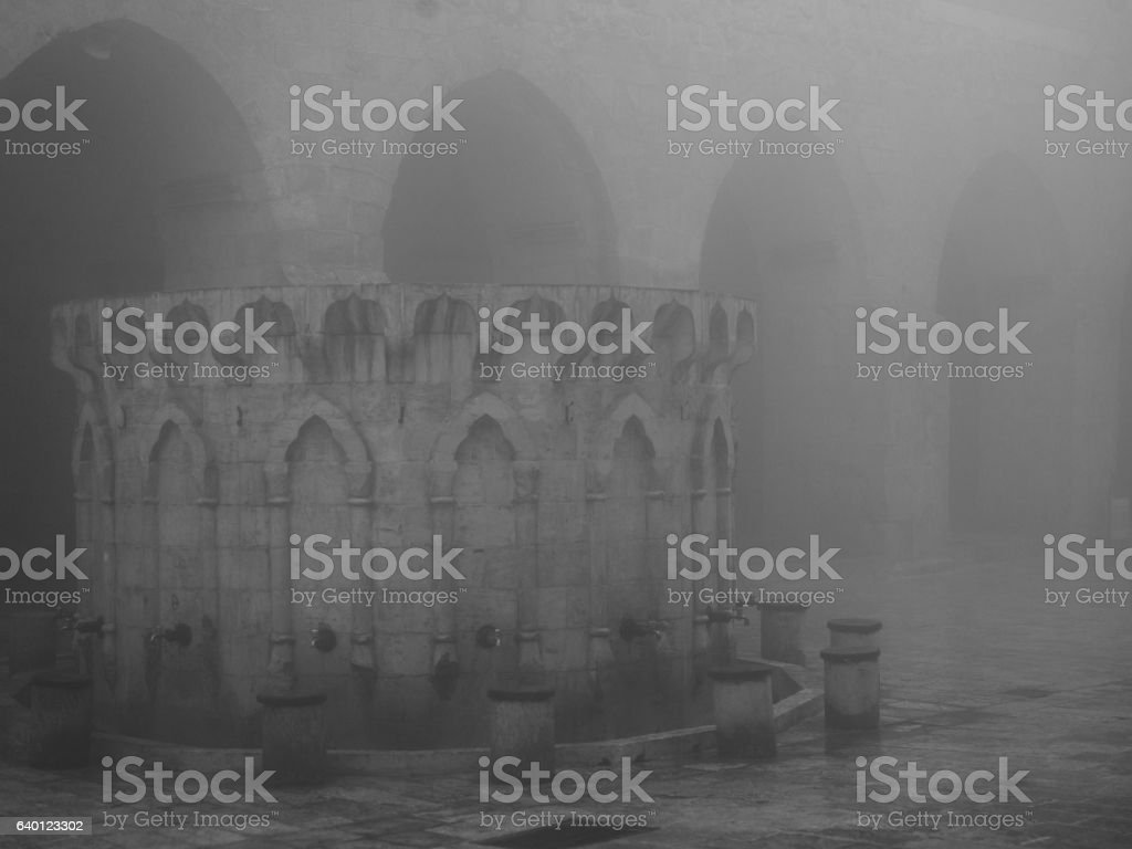 Fountain Of Great Mosque In Mardin, Turkey stock photo