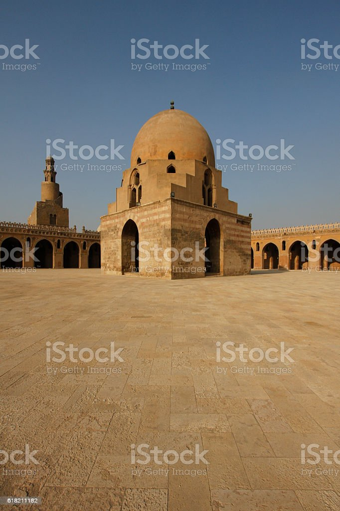 Fountain of Ibn Tulun Mosque in Cairo stock photo