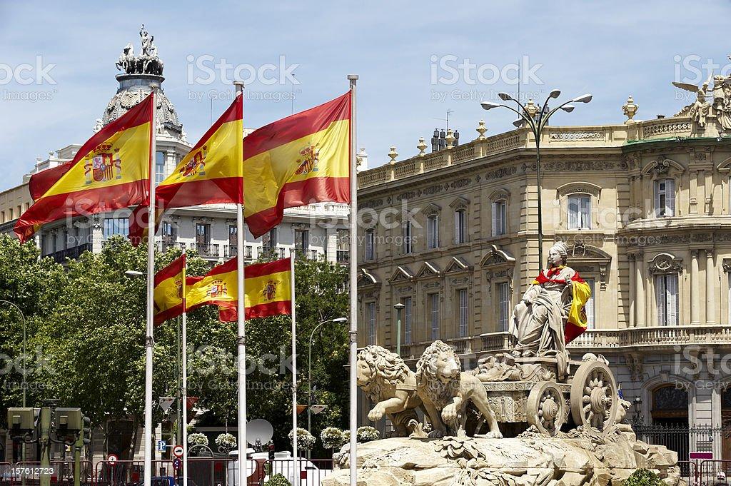 Fountain of La Cibeles in Madrid (Spain) royalty-free stock photo