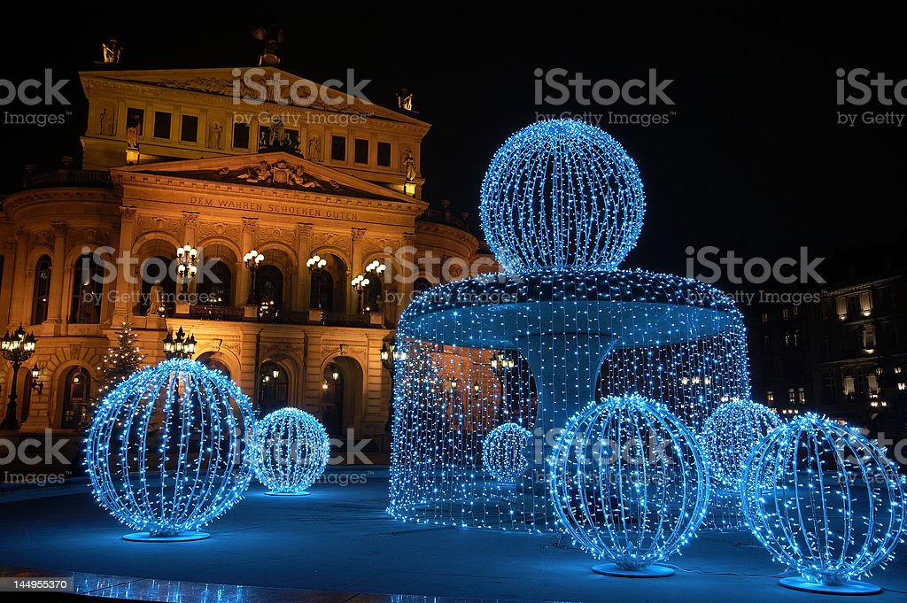 Fountain of lights, Alte Oper royalty-free stock photo