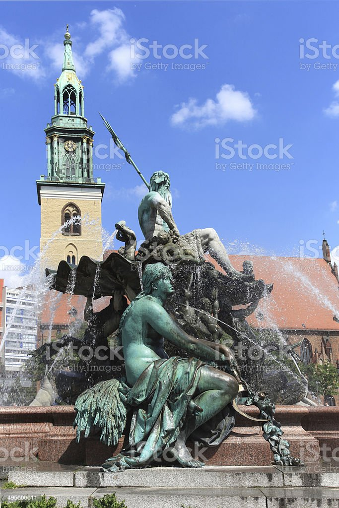 Fountain of  Neptune, Berlin royalty-free stock photo