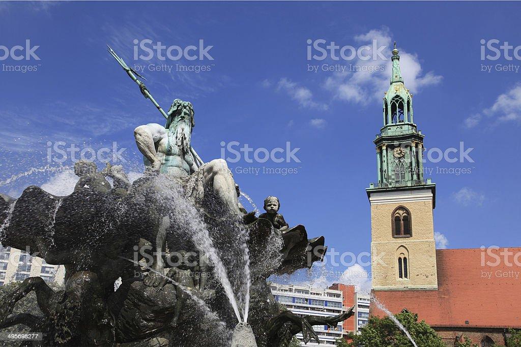 Fountain Of  Neptune, Berlin royalty-free stock photo