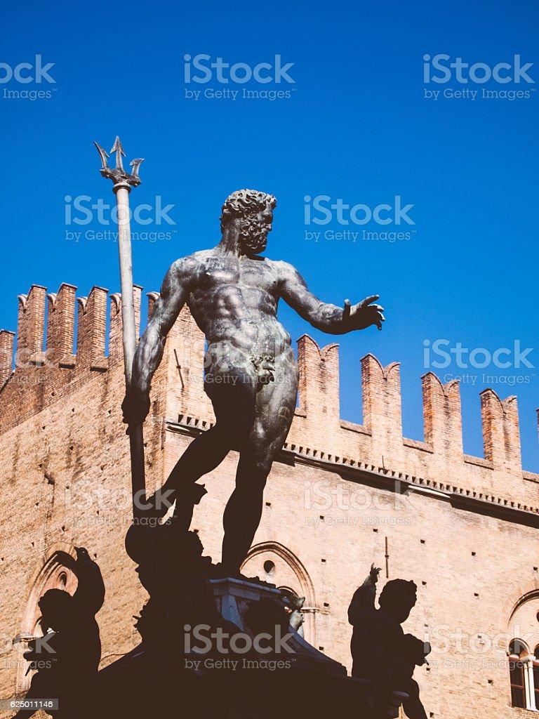 Fountain of Neptune in Bologna, Italy stock photo