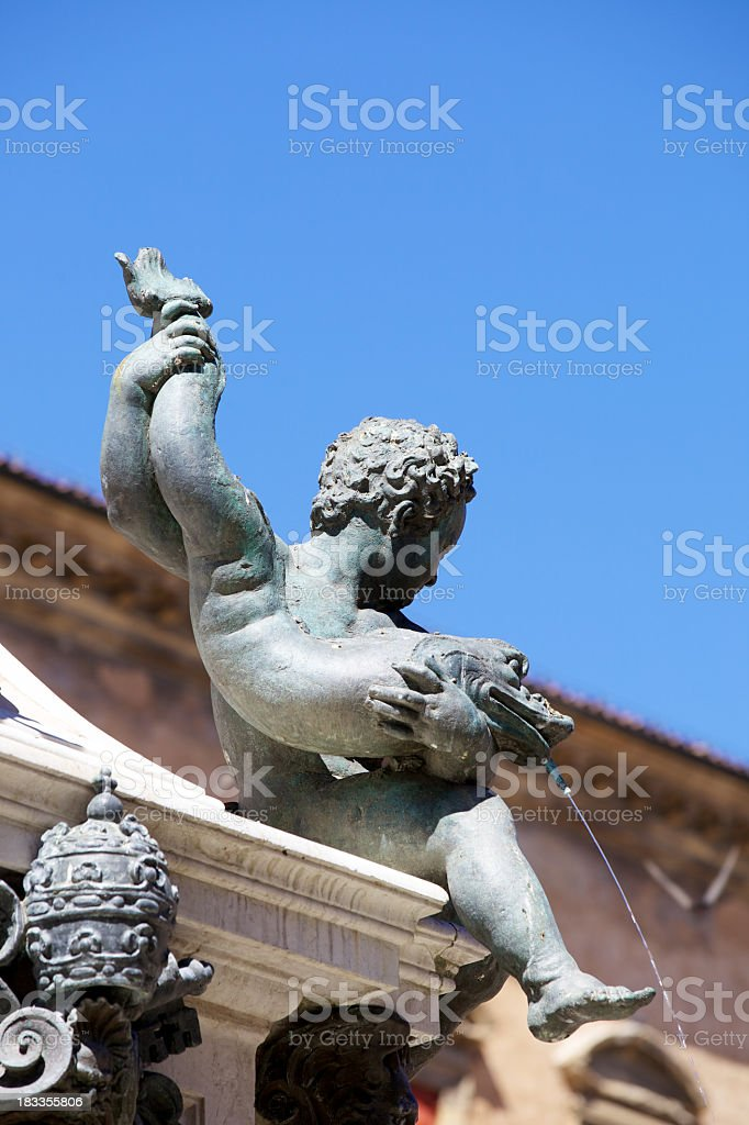 Fountain Of Neptune In Bologna royalty-free stock photo