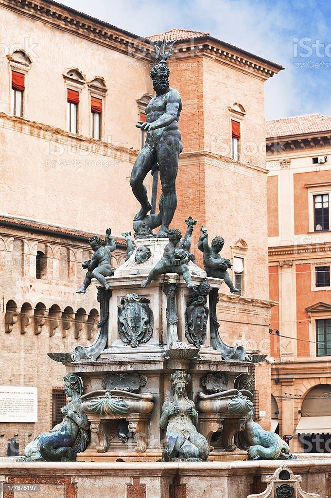 Fountain of Neptune on Piazza del Nettuno stock photo