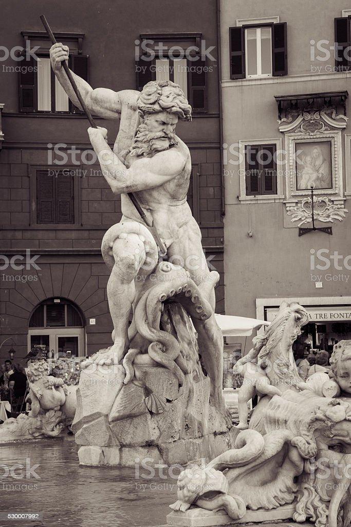 Fountain of Neptune stock photo
