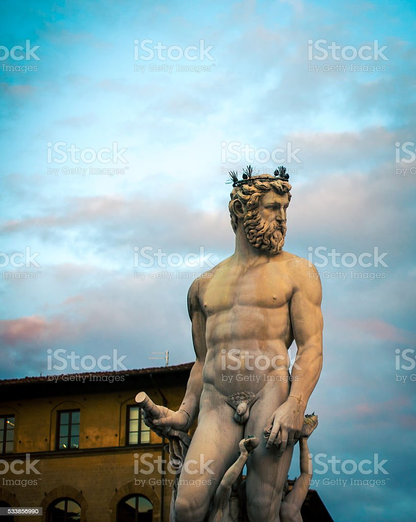 Fountain of Neptune stock photo