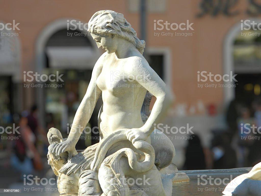 Fountain of Neptune, Rome, Italy stock photo