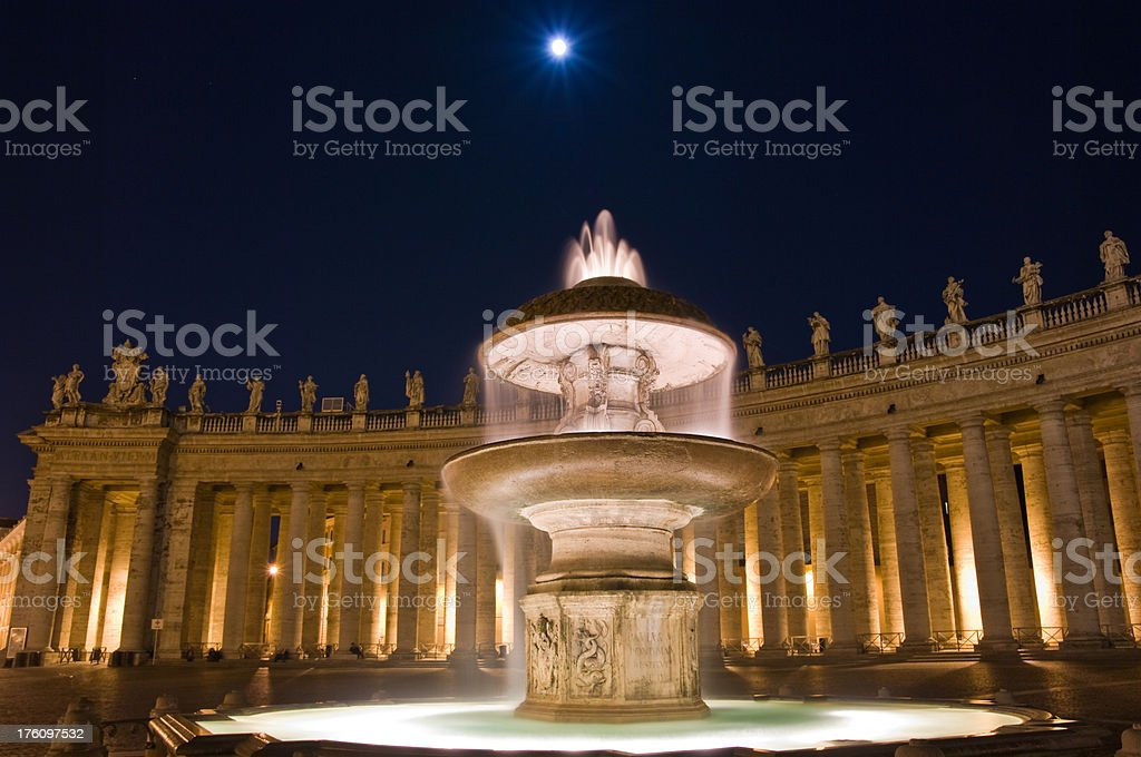 Fountain of Saint Peter's Square royalty-free stock photo
