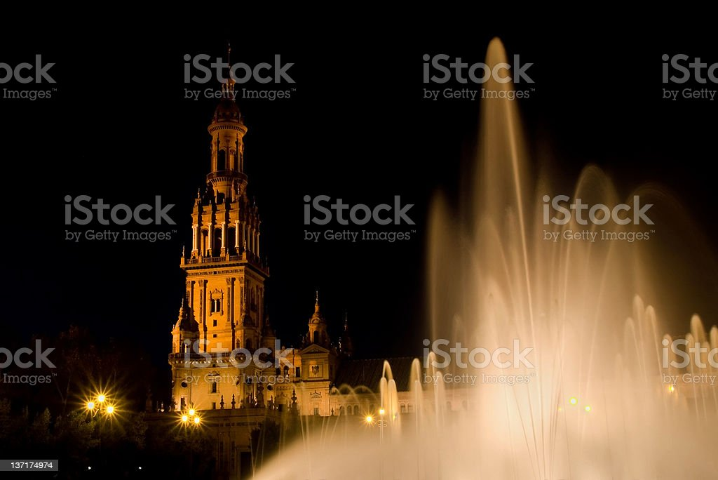 Fountain of Seville Spain Square royalty-free stock photo