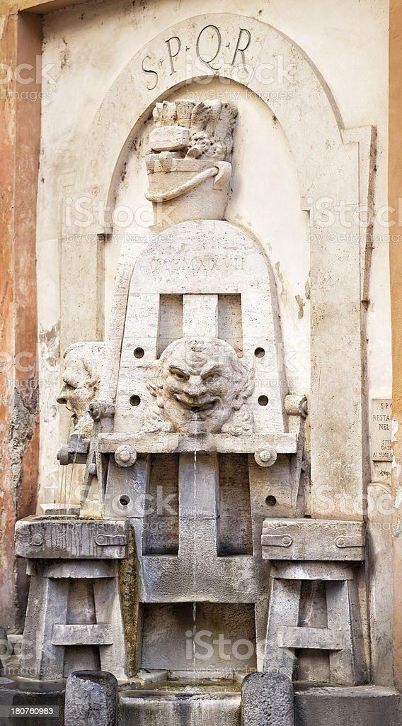 'Fontana delle Arti in Via Margutta, Rome Italy' stock photo
