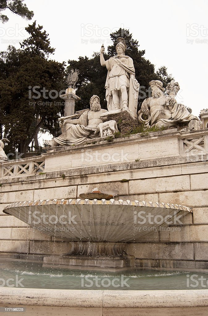 Fontana della Dea Roma stock photo