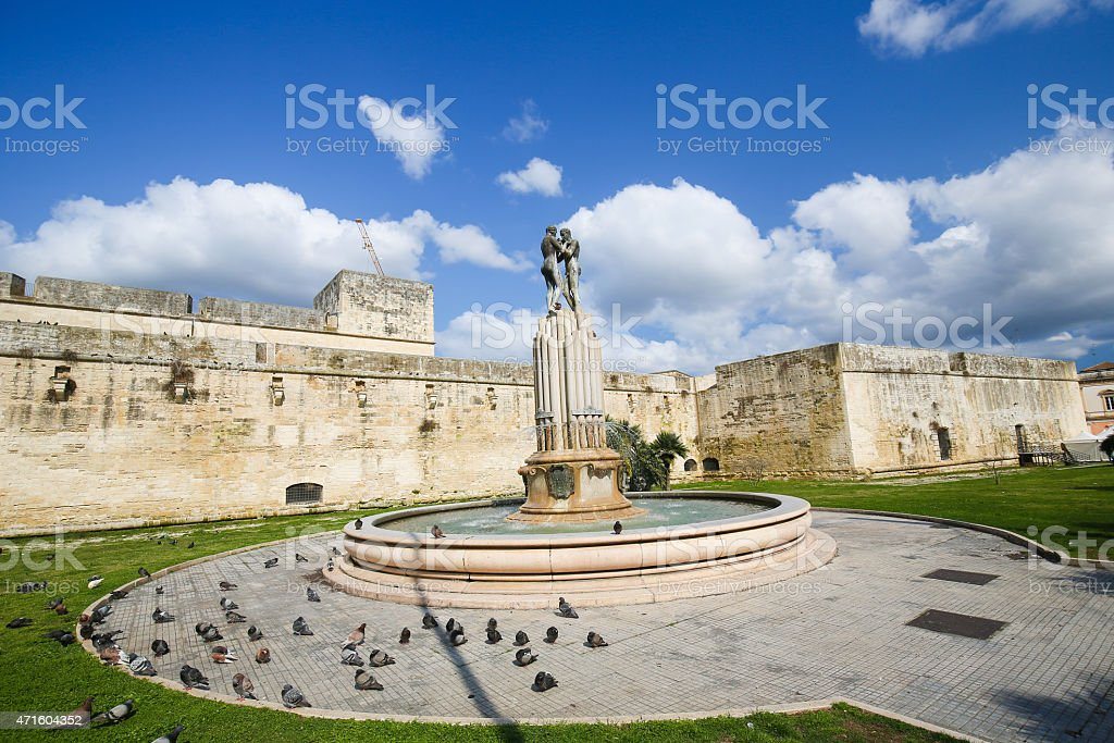 Fountain of the Lovers or Fontana degli Innamorati in Lecce stock photo