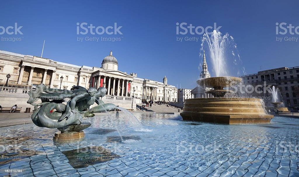 Fountain Of The National Gallery stock photo
