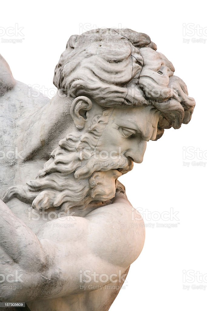 Fountain of the Neptune in Piazza Navona Rome, Italy royalty-free stock photo