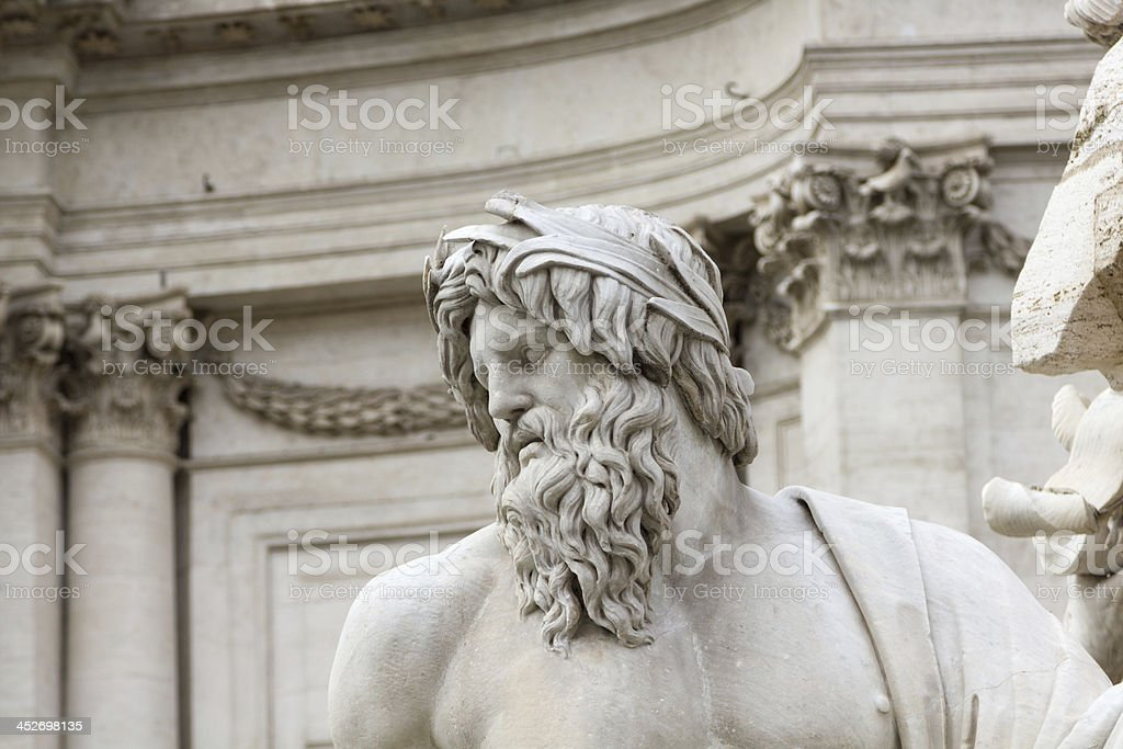 Fountain of the Neptune, Piazza Navona (Rome) royalty-free stock photo