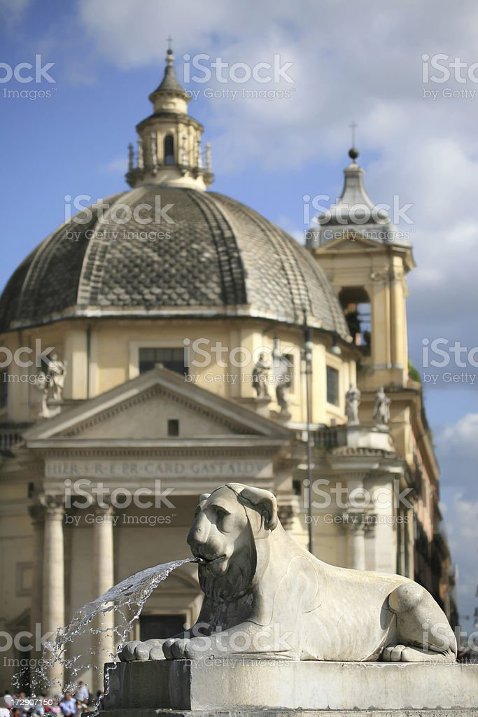 Fontana dell' Obelisco royalty-free stock photo