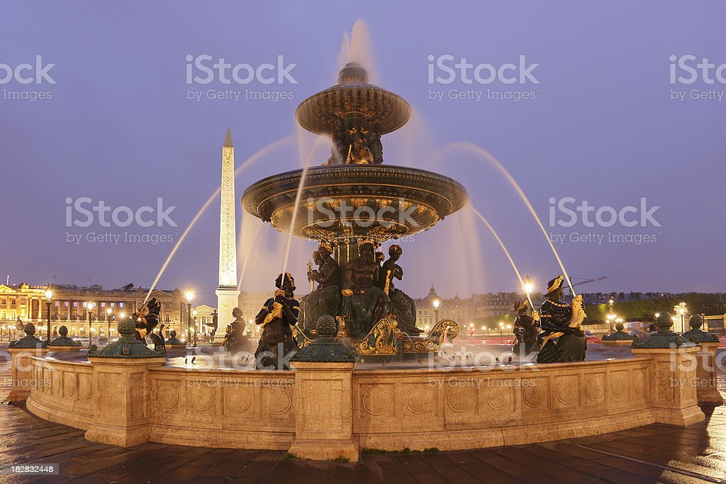 Fontaine des Mers royalty-free stock photo
