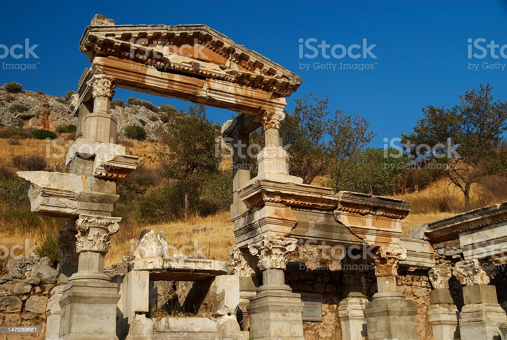 Fountain of Trajan, Ephesus, Turkey. royalty-free stock photo