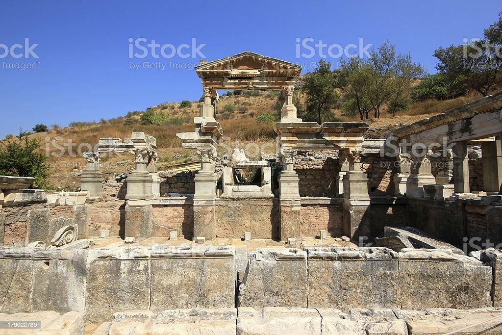 Fountain of Trajan, Ephesus, Turkey. royalty-free stock photo