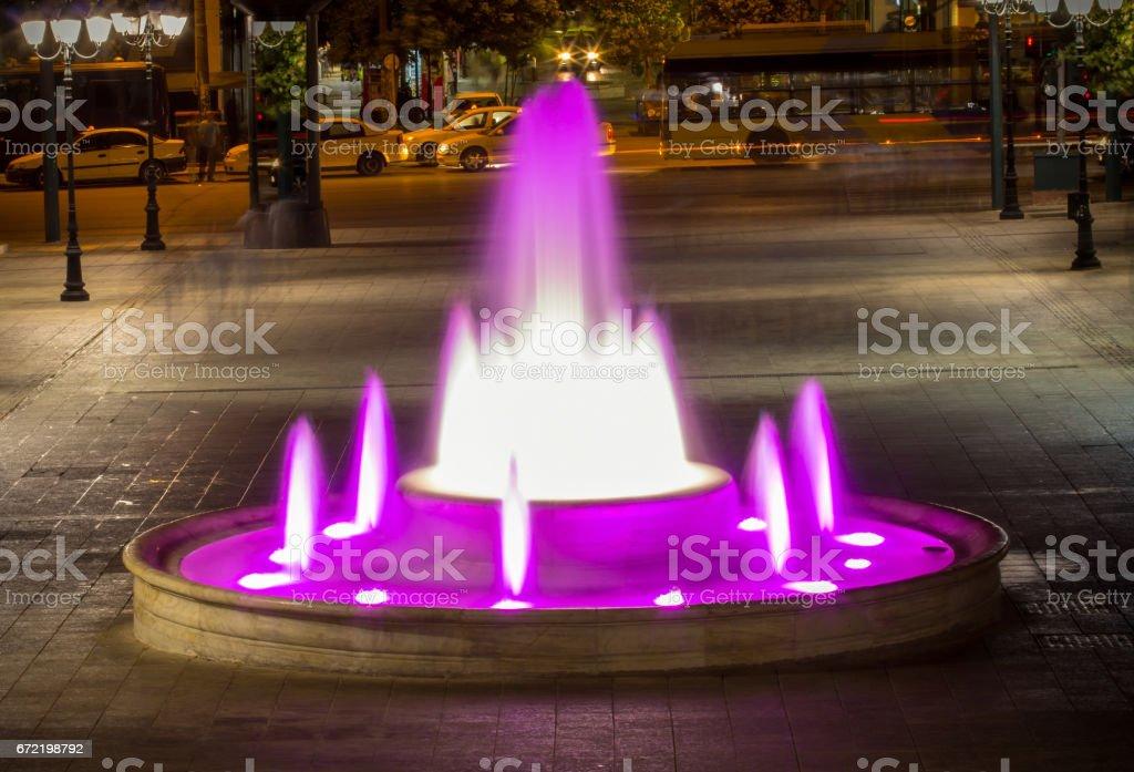 Fountain on Syntagma square, Athens, Greece stock photo