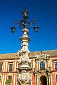 Fountain on the Plaza de la Virgen in Seville, Spain