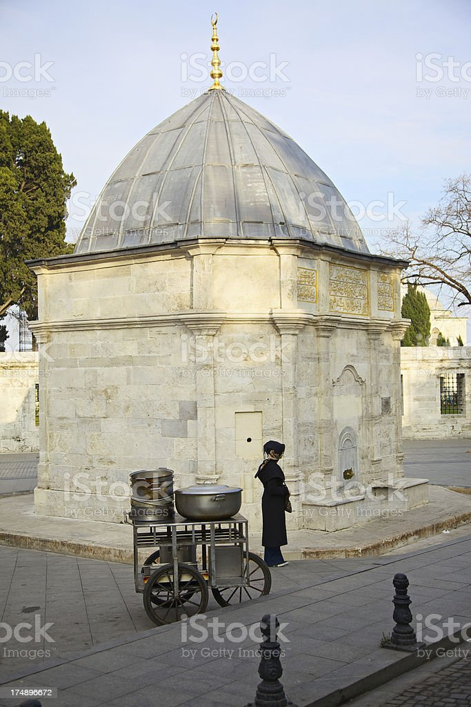 Fountain outside Suleiman's Mosque complex, Istanbul, Turkey stock photo