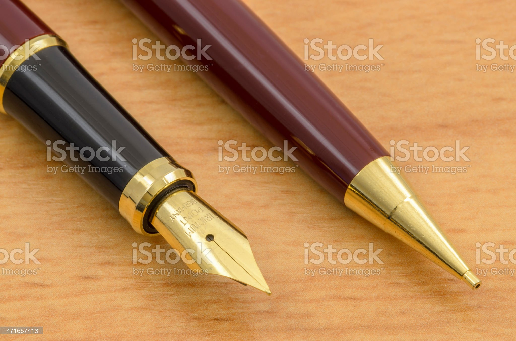 Fountain Pen and Pencil Set 05 royalty-free stock photo