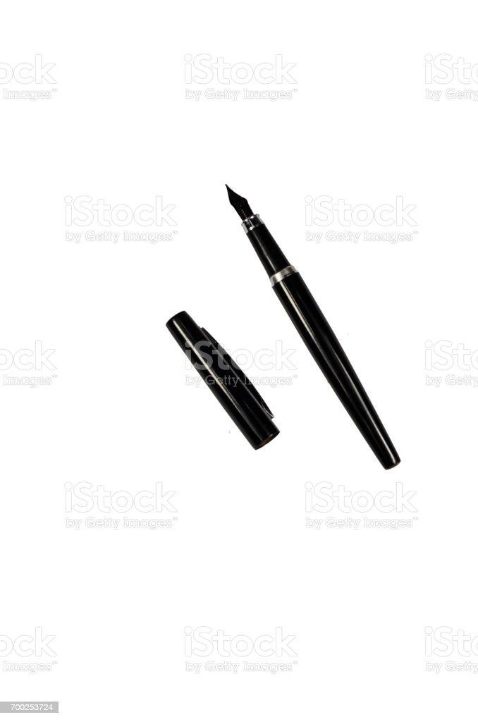 Fountain pen isolated on white stock photo