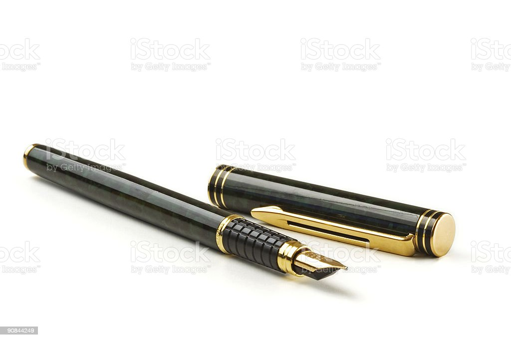 Fountain pen isolated over a white background royalty-free stock photo