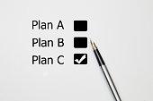 fountain pen Tick in Plan C checkbox