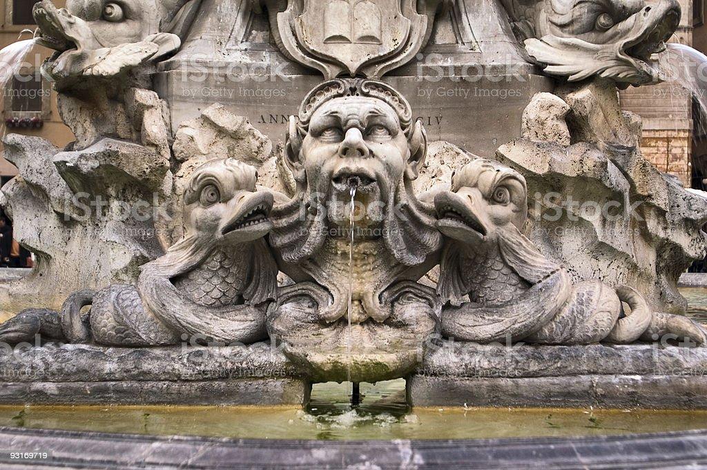 Fountain, Piazza della Rotonda, Roma, Italy stock photo